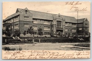 St Louis Missouri~Wyman Public School~Iron Fence Around Grounds~1908 B&W