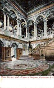 Washington D C Library Of Congress Grand Entrance Hall 1908