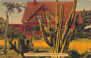 Edinburg Texas~Fitzpatrick's Cactus Gardens~Main Building~20 Acres~1940s Linen