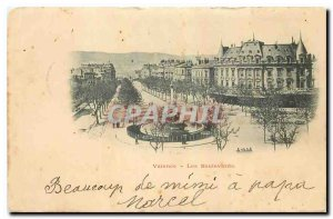 Old postcard Valencia Boulevards