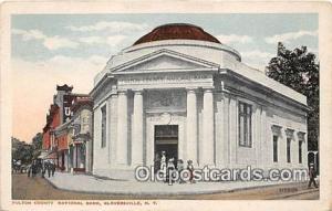 Fulton County National Bank Gloversville, NY, USA Postcard Post Card Gloversv...