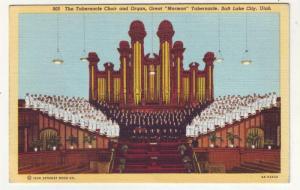 P167 JL 1915-30 postcard tabernacle choir organ great mormon