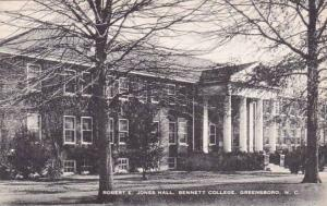 North Carolina Greensboro Robert E Jones Hall Bennett College Artvue