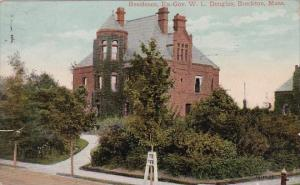 Massachusetts Brockton Residence Ex Gov W L Douglas 1910