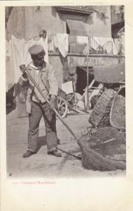 Naples , Italy , 1900-10s ; Street Sweeper