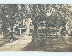 Pre-1910 rppc architecture HUGE THREE-STORY MANSION HOUSE IN THE TREES HM0747