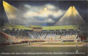 Wilmington Delaware 1940s Postcard Wilmington Baseball Club Blue Rocks Stadium