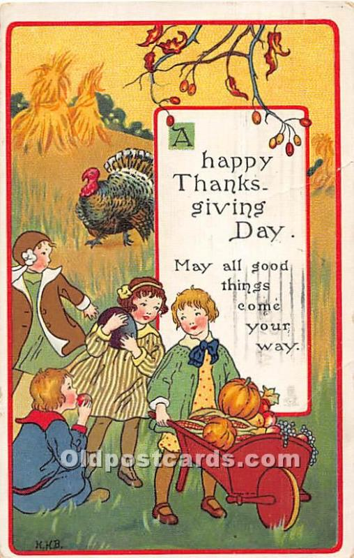 Thanksgiving Old Vintage Antique Postcard Post Card Thanksgiving Postcard