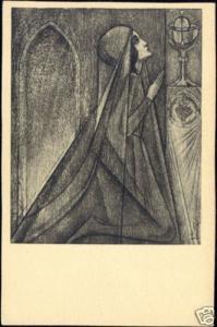 Dutch Symbolist JAN TOOROP - Eucharist I