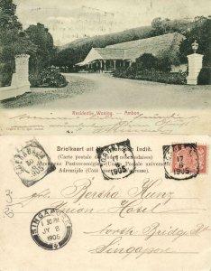 indonesia, MOLUCCAS MALUKU AMBON, Residency (1905) Postcard