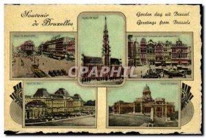 Old Postcard Belgium Brussels Remembrance