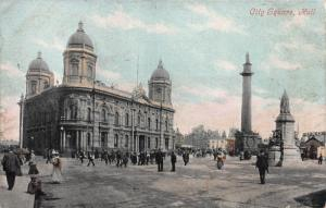 City Square, Hull, England, Great Britain, Early Postcard, Unused