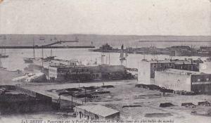BREST, Panorama sur le Port du Commerce et la Rade, une des plus belles du mo...