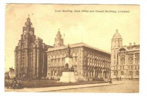 Liver Building, Dock Office & Cunard Buildings, Liverpool (Lancashire), Engla...