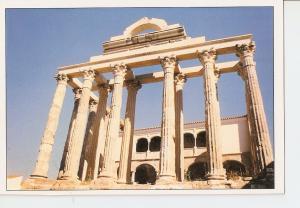 Postal 028612 : Templo de Diana, Patronato de la Ciudad Monumental de Merida
