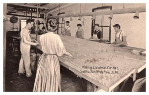 Vermont White River Junction , Smith and Son Co., Making Christmas Candies