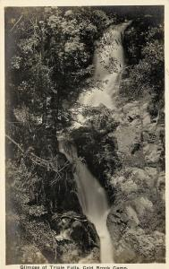 Vintage RPPC Real Photo Postcard Glimpse of the triple falls Cold Brook Camp