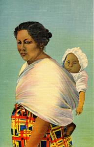 NC - Cherokee Indian Reservation. Mother and Baby