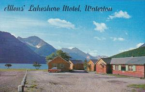 Canada Allen's Lakeshore Motel Waterton Lakes National Park Alberta