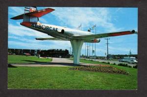 NB Airplane Plane Royal Canadian Air Force CF100 Moncton New Brunswick Postcard