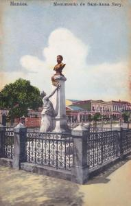 Anna Nery Statue Manaus Manaos Old Brazil Postcard