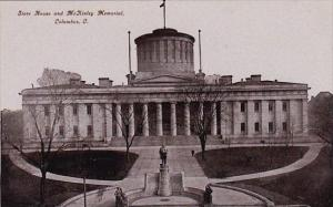 Ohio Columbus State House And Mckinley Memorial