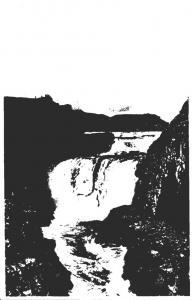 Iceland Gullfoss The Golden Waterfalls Real Photo