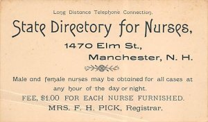 State Directory for Nurses Manchester, New Hampshire, USA Nurse Unused
