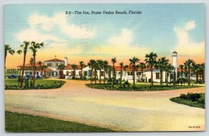 Ponte Vedra Beach Florida~Inn~View from Afar Showing Parking & Patio~1943
