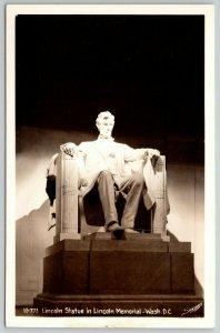 Washington DC~Sawyers RPPC~Lincoln Statue and Memorial~c1940
