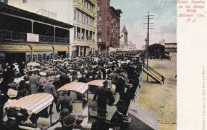 ATLANTIC CITY, New Jersey, 1901-1907; Easter Sunday On The Board Walk