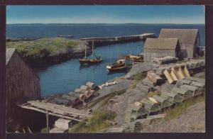 Scenery at Blue Rocks Nova Scotia Canada Post Card 3524