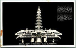 1939 GGIE San Francisco RPPC Photo Postcard THE ALTAR OF THE GREEN JADE PAGODA