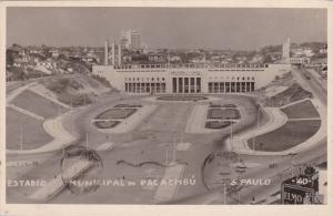 RP: Estadio (Soccer Stadium), Municipal do Pacaembu , S. Paulo, Brazil, PU-1951