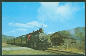 Baldwin Engine No 15 Green Mountain Railway Steamtown USA Railroad Postcard