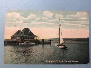 1908 Yacht Club and Harbor on Lake Champlain in Burlington, VT.
