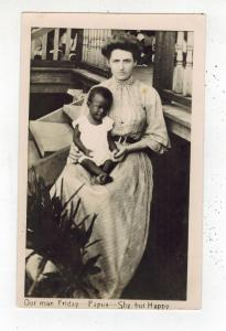 Mint New Guinea Picture Postcard Papua baby with White Woman