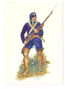 Canadian Regiments Soldier Compagnies Franches de la Marine