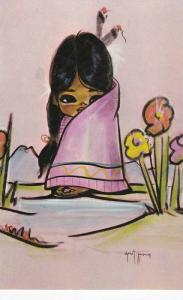 CHRISTOFFERSON: Morning Blossom Canadian Indian Girl Wrapped in Pink Blanket