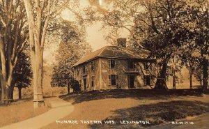 Lexington MA Munroe Tavern 1695 Real Photo Postcard