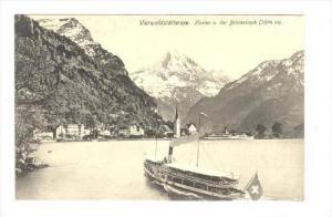Fluelen u. Der Bristenstock (3074m.), Vierwaldstättersee, Switzerland, 1900-...