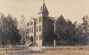 Madison South Dakota State University (Normal School) Corner Tower RPPC c1910