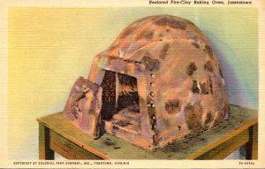 Virginia Jamestown Restored Fire Clay Baking Oven Curteich
