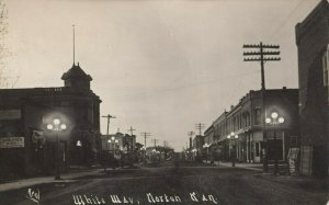 RP: NORTON , Kansas , 1914 ; Main Street under Electric Lights White Way