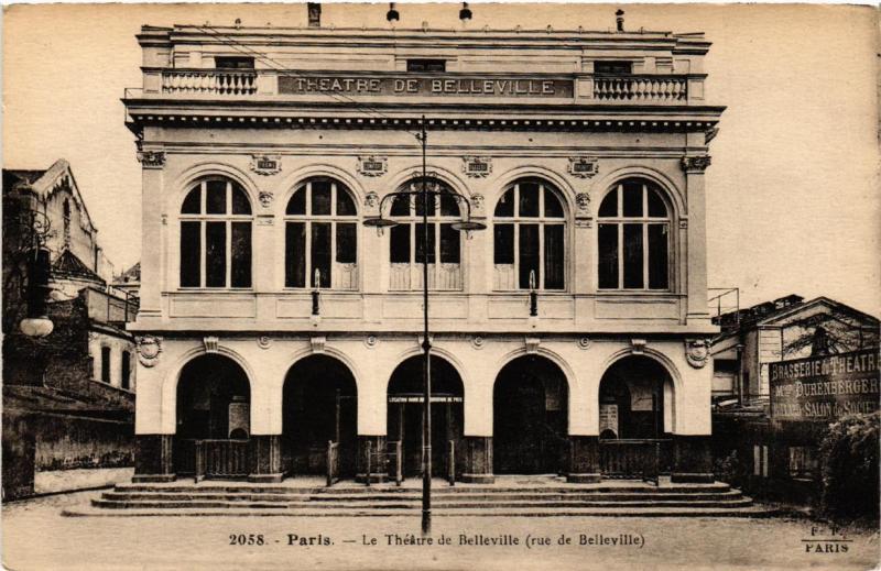 CPA PARIS (19e) Le Theatre de Belleville. rue de Belleville. (537905)