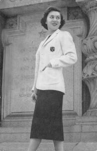 New Canaan Connecticut Isabel Eland Tweed Jacket Ad Vintage Postcard KA688424