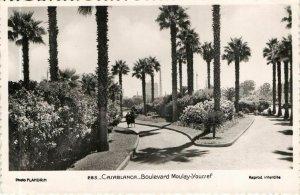 CPA AK MAROC CASABLANCA Boulevard MOULAY Youssef Flandrin (37726)