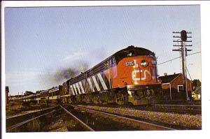 Canadian National Railway Train at Brockville, Ontario,