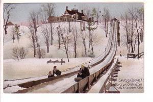 Toboggan Slide at Ben Riley's Saratoga Lake, Saratoga Springs, New York, Glit...