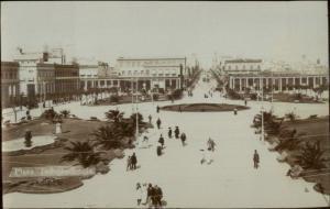 Montevideo Uruguay Plaza Indepencia c1910 Real Photo Postcard